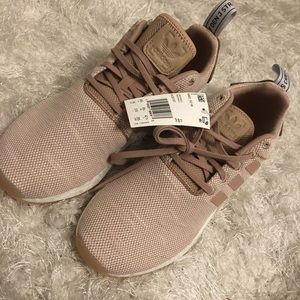 Nude/rose adidas sneakers